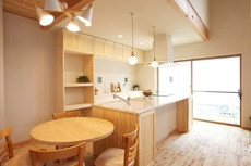 勾配天井が素敵な家
