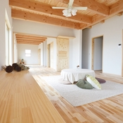 4つの個室のある平屋