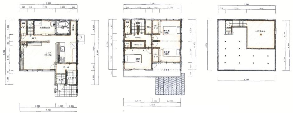 大容量の収納を備えた、30坪以下の家
