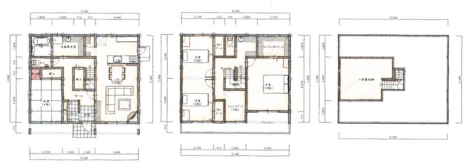 塗壁とダブルの断熱で快適な二世帯住宅