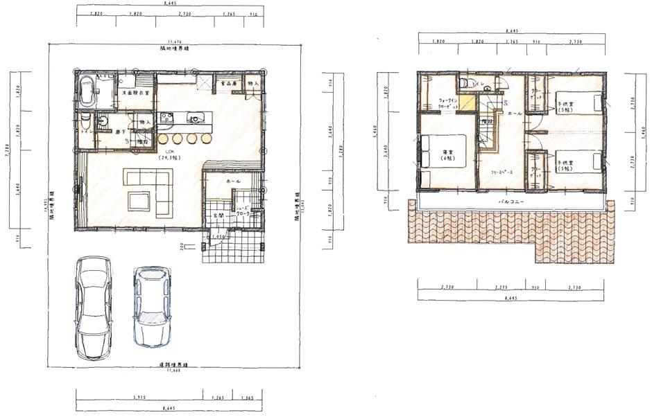 おしゃれ便利なシンプル設計の家