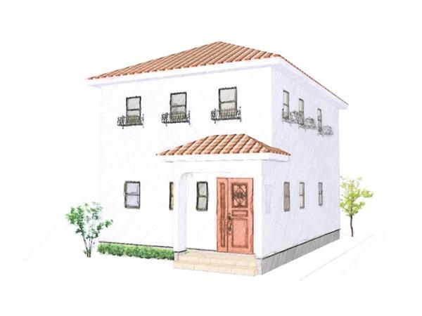 収納を便利に配置した、ロフト付きの家