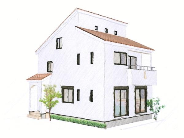 大容量の屋根裏収納を備えた家