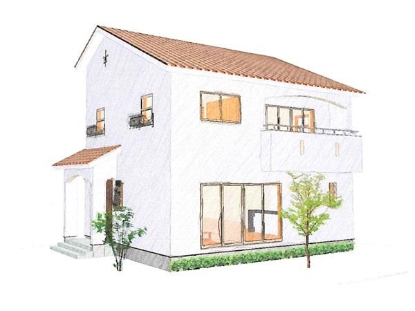 外観がかわいいきちんと設計の家