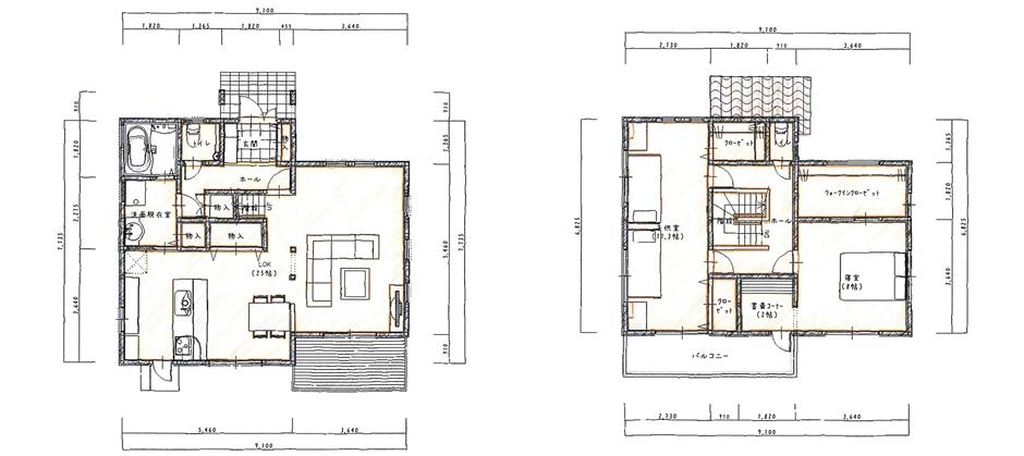 LDKを広々一体空間にした家