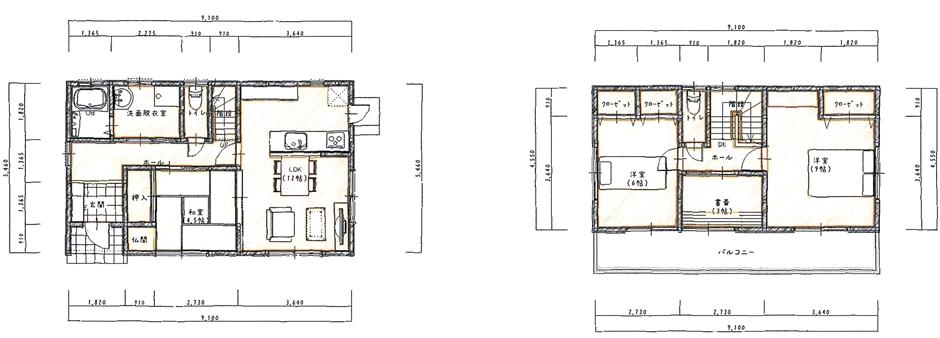 和室と書斎のある30坪以下の家