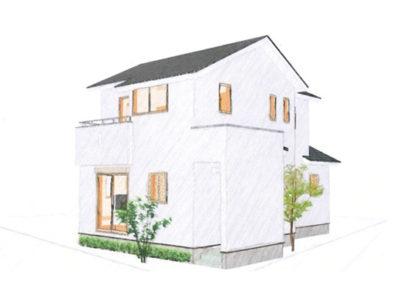 ちょっと変形した土地に柔軟に対応した家