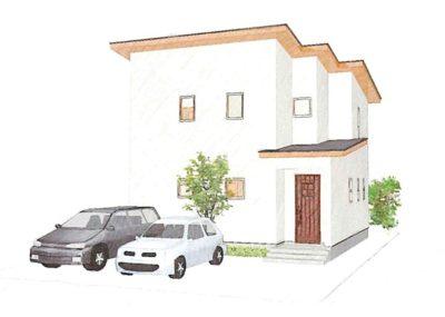 必要な空間をまとめた、便利で快適なコンパクト住宅。
