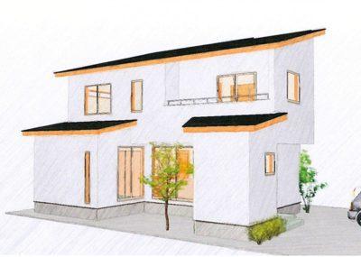 土間収納と書斎のある家