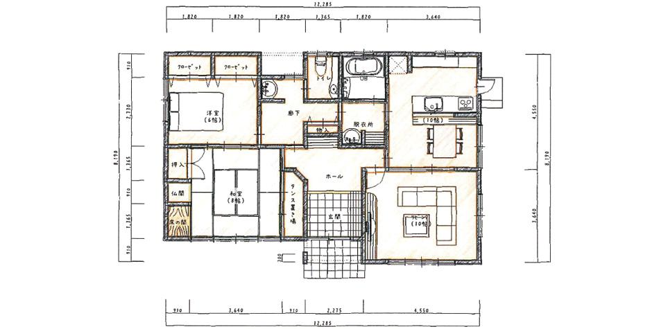 細かな工夫が普段の生活にゆとりを生み出す平屋住宅