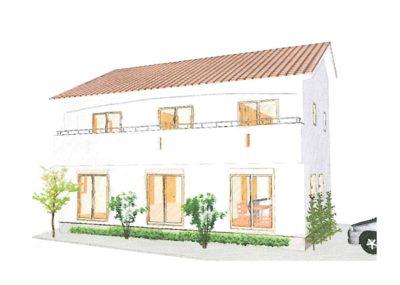 シンプルな南欧風の家