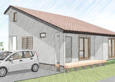 ランドリールームと小屋裏のある家
