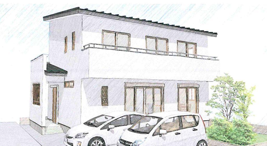 ロフトとファミリークローゼットのある2階建て/西玄関@浜松市